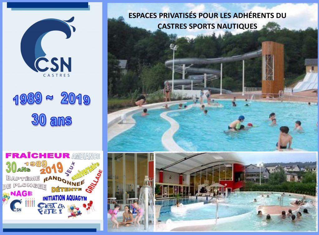 La piscine de Lacaune et les 30 ans du club.